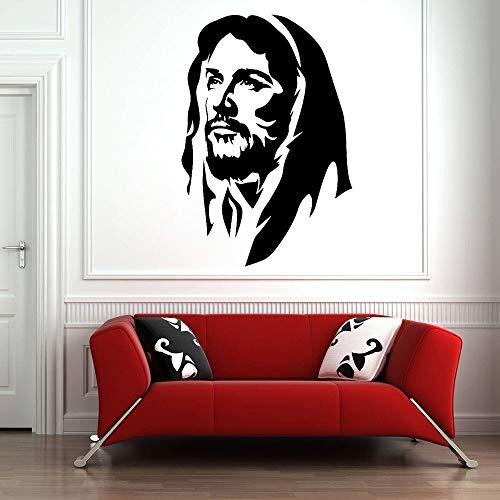 Tianpengyuanshuai Muurtattoo Jezus Christus voor de woonkamer God Religion Vinyl Sticker slaapkamer Decoratie van de kerk
