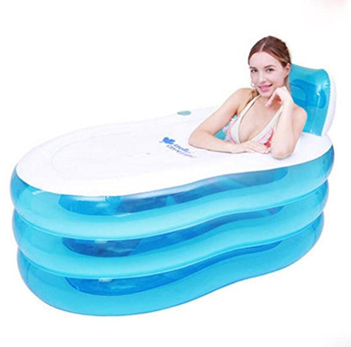 OOFWY Bañera de hidromasaje Espesado Inflable para Adultos Plegable Baño Barril de...