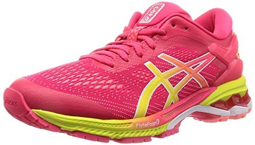 ASICS Damen Gel-Kayano 26 Laufschuhe, Pink (Laser Pink/Sour Yuzu 700), 41.5 EU