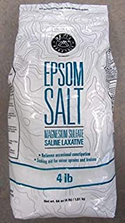 Horse Epsom Salt Equine Label 4 Lb