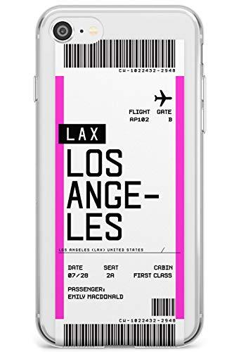 Personalizzato Boarding Pass Biglietto: Los Angeles Slim Cover per iPhone 7 Plus TPU Protettivo Phone Leggero con Personalizzato Viaggiatore