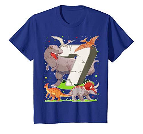 Niños 7 Años Para Regalo De Cumpleaños Figuras de Dinosaurio Camiseta