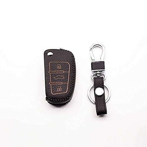 BUQDA Llavero de Cuero para Coche, para Audi A1 A2 A3 A4 A5 A6 A7 A8 Q1 S1 S3 S5 S6 S8 Q3 Q5 Q7 TT TTS SQ3 SQ5 SQ7