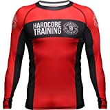 Hardcore Training Recruit Rash Guard Men's Camisa de Compresión Hombre MMA BJJ Boxeo...