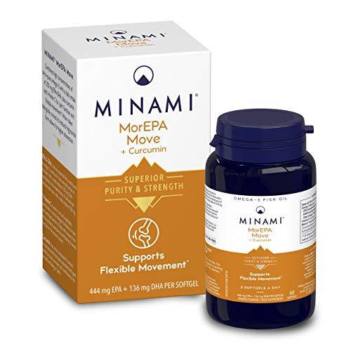 Minami - MorEPA Move Plus Curcumin - Omega 3 Fish Oil - High EPA & DHA Formula + Curcumin and Vitamin C to Support Flexible Movement - 60 Capsules