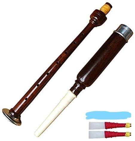 Neu Highland Dudelsack Practice Chanter Palisanderholz Braun Silber + 2 Üben Schlifgras