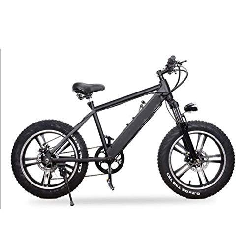 FZYE 20 Pulgadas Bicicleta Eléctrica, montaña Bike 48V 10A Bicicletas Deportes Aire Libre Ciclismo,Negro