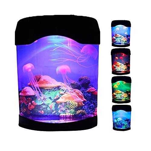 LED Lámpara de medusas. Luz nocturna de acuario Artificial USB con cambio de Color. Decoración de medusas artificiales. Luces de noche decorativas para el hogar portátiles