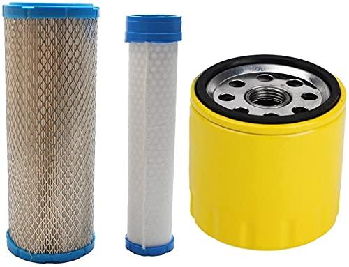 Piezas de repuesto para cortacésped Reemplace el filtro de aire y el filtro de aceite de limpiador de filtro de aire para Kohler 2508301 2508304 2508301-S 2508304-S Kawasaki 11013-7020 11013-7