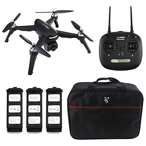 Goolsky JJR / C JJPRO X5 RC Drone con cámara 1080P 5G WiFi GPS Maleta sin escobillas con 3 baterías
