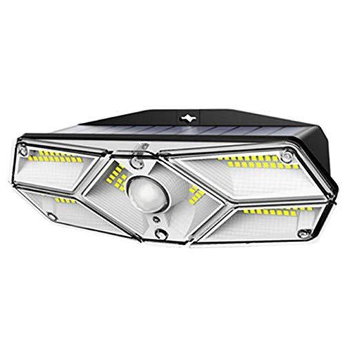 Tellgoy Luz Solar De 104 LED, Farola para Exteriores, Luces De Jardín con Energía Solar con Sensor De Movimiento PIR Impermeable