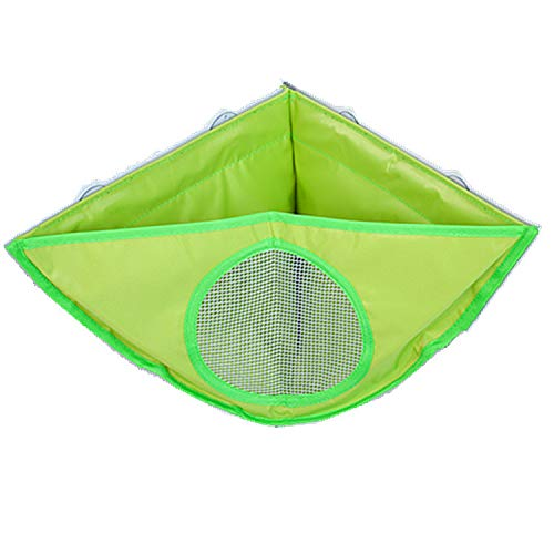 Bath Toy Storage Tidy - New Strong Suctions Cups - Bathroom Basket for Baby Boys and Girls - Hanging Mesh Hammock Green 38X29X18CM