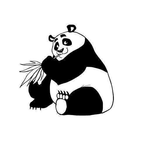 Bomdow China Panda Wandaufkleber Dekorative Vinyl Aufkleber Wohnkultur Abnehmbare Kinderzimmer Wandtattoos Für Kids59X62 Cm