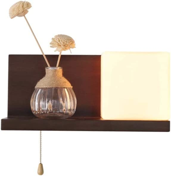 Modern Solid Wood Wall Lamp Lampshade White Milky Glass Lam Max 56% OFF Phoenix Mall