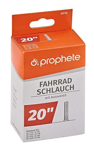 Prophete Fahrradschlauch 20 X 1,75-20 X 2,125 (47/57-406), schwarz, L - 3