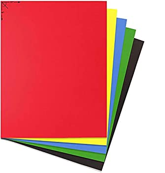Emraw Poster Board Sturdy Office Multicolor Blanks Sheets Sign Scrapbooking Blank Graphic Display Board Durable for Arts and Crafts Projects Blank Board 5 per Pack  Pack of 2