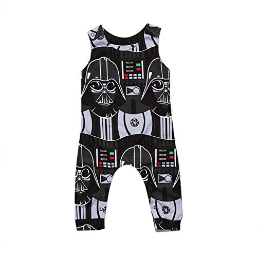 Infant Toddler Baby Boys Star Wars Sleeveless Romper One-Piece Jumpsuit Clothes (0-6Months)