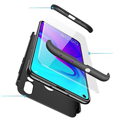 Huawei Nova 4 Hülle mit Hartglas, AChris 360 Grad Handyhülle Bumper Case Robust Schutzhülle Cover mit Displayschutz Schutzhülle Backcover für Huawei Nova 4 - 2