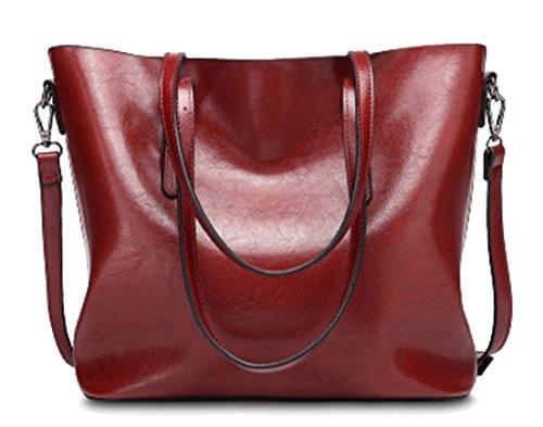 Seaoeey Kvinnor handväskor topphandtag axelväskor PU läder tygväska crossbody handväska