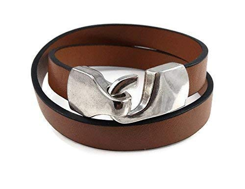 Overseas parallel import Super sale period limited regular item Brown Leather Wrap Bracelet for Jewelry Women Gift