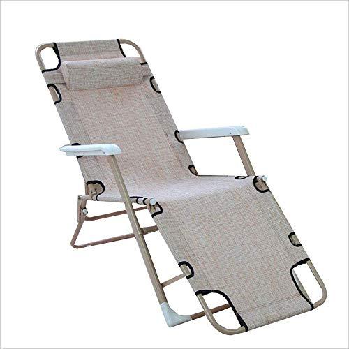 FGA Silla reclinable/Plegable Cama Plegable de Metal multifunción portátil con reposabrazos Silla Moderna de diseño Informal Silla Plegable