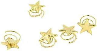Lumanuby 5 Horquillas en Espiral, Novia o Dama de Honor, de aleación, Clip para Boda o Compromiso, Color Dorado, tamaño de Las Pinzas de Pelo 1,8 x 1,8 x 0,8 cm