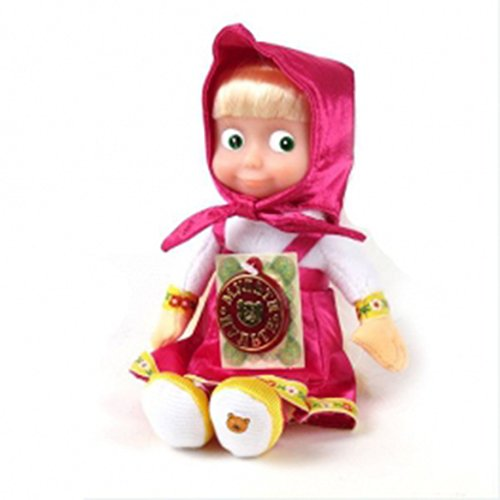 Masha and the Bear Soft Toy Masha sings and talks Compact size 8.6 inches (22cm) Masha Doll Best present for birthday