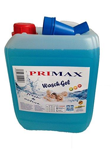 2 x 10 Liter Primax Flüssigwaschmittel mit Arielladuft, Microfasertuch und praktischem Ausgießer