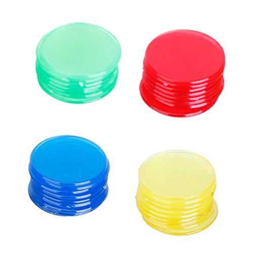 100pcs Pro Fichas De Bingo Recuento Marcadores De Bingo Tarjetas De Juego De 2 Cm 4 Colores