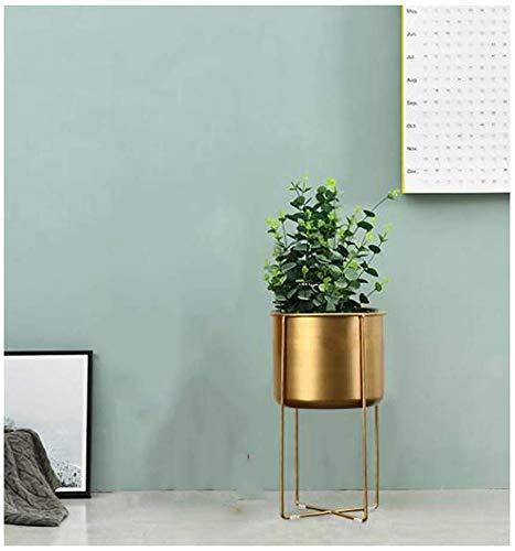 ZJN-JN Estantes Flores Hierro Arte Maceta Stands, la Planta, la Flor del Metal Hierbas Holder jardín Patio de Flor de la Planta macetas de Rejilla Soporte de exhibición Interior y Exterior (Color: