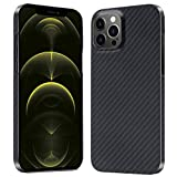 Carbon Fiber Phone Case for iPhone 12 Pro Max 6.7' Slim Design Supports Wireless Charging, Thin and Lightweight Case 0.02in & 0.3oz, 1 Pack