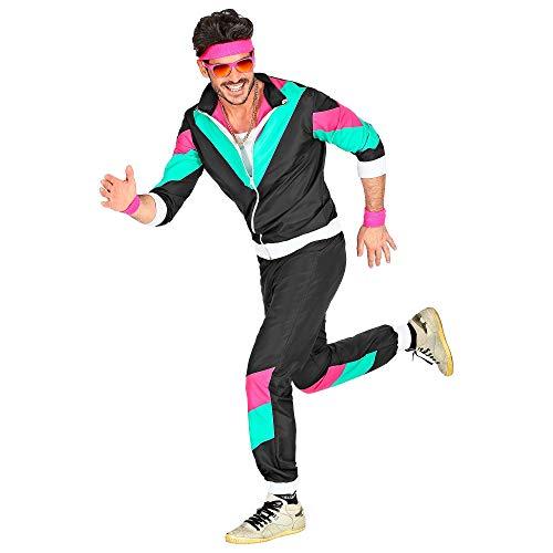 Widmann 10160 - Erwachsenenkostüm, 80er Jahre Trainingsanzug, Jacke und Hose, angenehmer Tragekomfort, Assi Anzug, Proll Anzug, Retro Style, verschiedene Größen, Bad Taste Party, 80ties, Karneval
