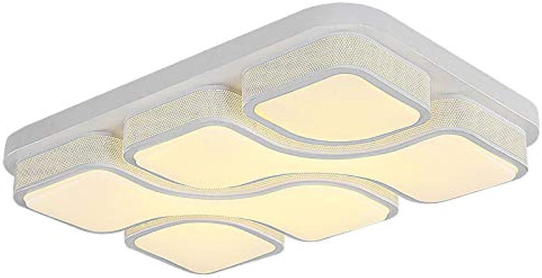 ETiME Design LED Deckenlampe 64W LED Deckenleuchte Warmwei 78x53CM Wohnzimmer Lampe (78x53CM 64W Warmwei)