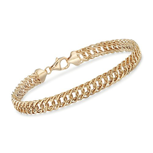 Ross-Simons 14kt Yellow Gold Double Oval-Link Bracelet