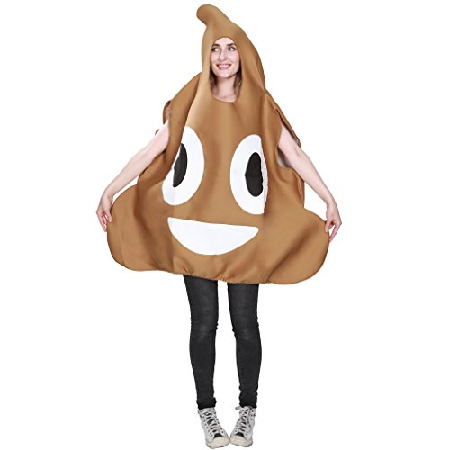 FantastCostumes Emoji Poop Emoticon Costume Adult Unisex
