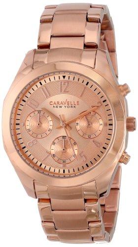 Caravelle New York Women's 44L115 Analog Display Japanese Quartz Rose Gold Watch