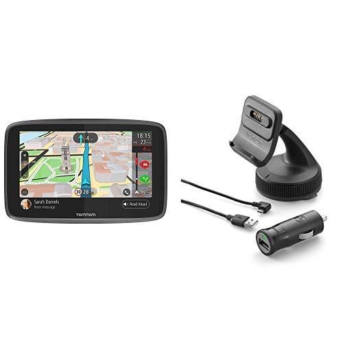 TomTom GO 6200 Pkw-Navi (6 Zoll, mit Freisprechen, Siri und Google Now, Updates über Wi-Fi, Lebenslang Traffic via SIM-Karte und Weltkarten) & Aktiv-Magnethalterung und Ladegerät