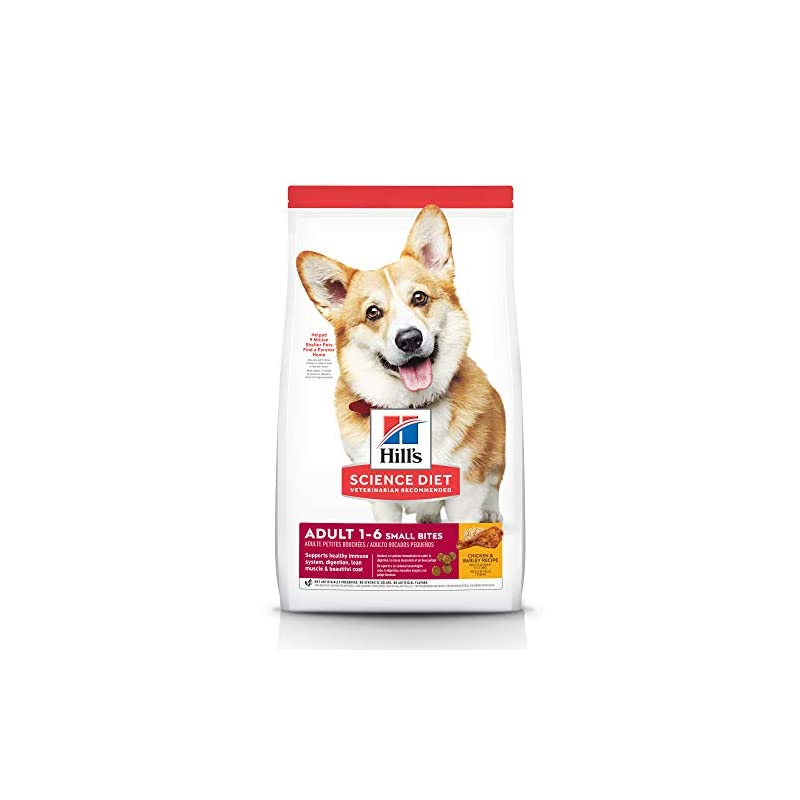 dog supplies online hill's science diet dry dog food, adult, small bites, chicken & barley recipe, 5 lb. bag