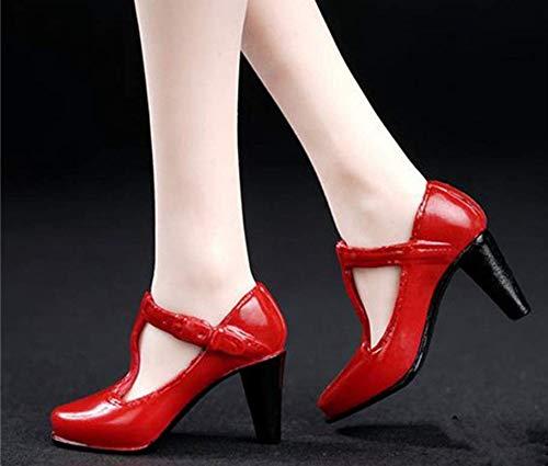Tytlmask kleding model 1/6 weegschaal dames schoenen met hoge hak model zonder voeten rood action figuur lichaam