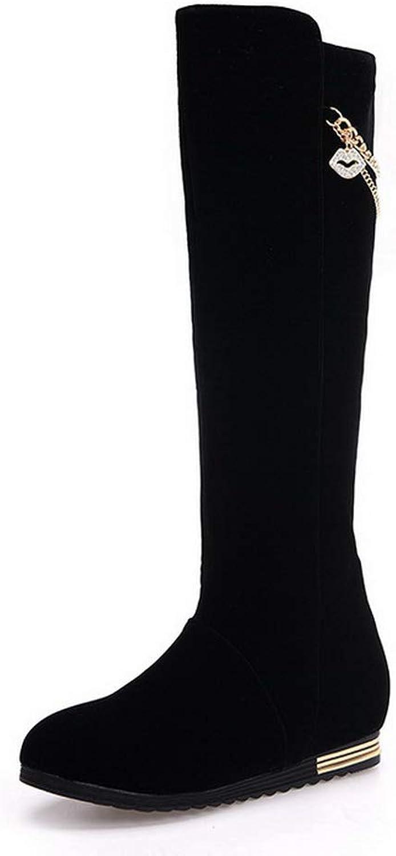 AdeeSu Womens Outdoor Solid Bucket-Style Urethane Boots SXC03701