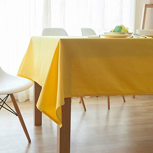 YOUYUANF tablecloth wipeLinen look rectangular tablecloth145x220cm