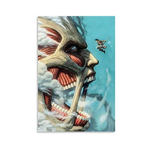 WERTQ Anime Attack On Titan Attack On Titan7 - Poster artistico da parete, stampa artistica da parete moderna della famiglia, 30 x 45 cm
