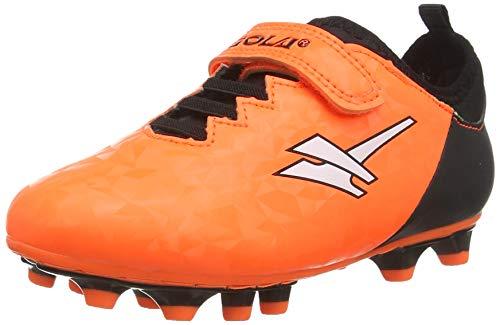 Gola Alpha Mld Velcro, Botas de fútbol para Niños, Naranja (Orange/Black Ub), 26 EU