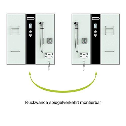 TroniTechnik Dampfdusche Duschtempel Whirlpool Badewanne Komplettdusche Duschkabine Dusche 170×90 schwarz - 3