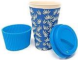 Vaso Café para Llevar Reutilizable - Vaso Termico de Fibra de Bambu con Tapa de...