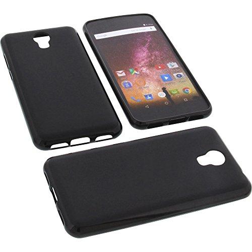foto-kontor Tasche für Archos Core 50p Gummi TPU Schutz Handytasche schwarz