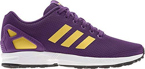 adidas Mens ZX Flux Sneaker, Glory Purple/Spring Yellow/Footwear White, 40 EU