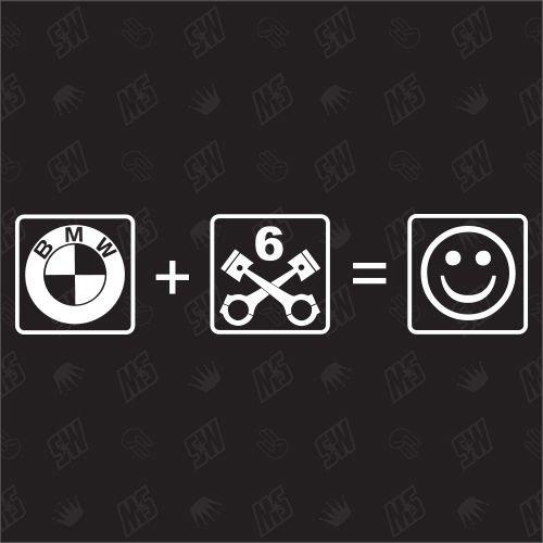 speedwerk-motorwear Beamer + 6 Zylinder = Smile - Sticker
