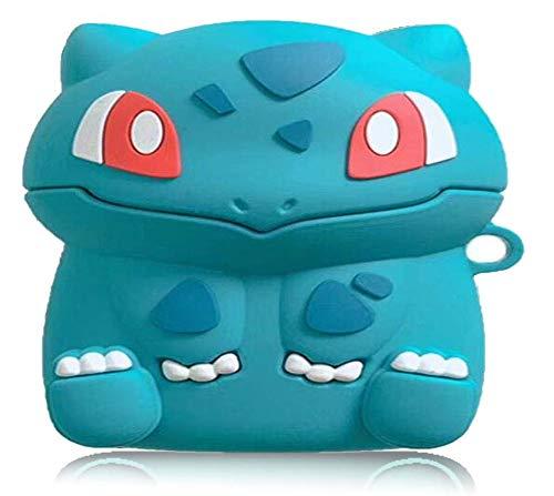 Compatibile con Nintendo Switch Airpods Pro, custodia di ricarica per Airpod Pro, portachiavi e ciondolo, decorazione carino 3D Cartoon Toy Bulbasaur