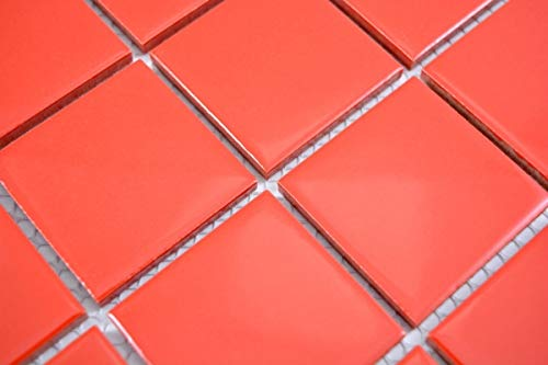 Handmuster Mosaikfliese Keramik soft rot Fliesenspiegel Küchenfliese Wandfliese MOS14-0902_m